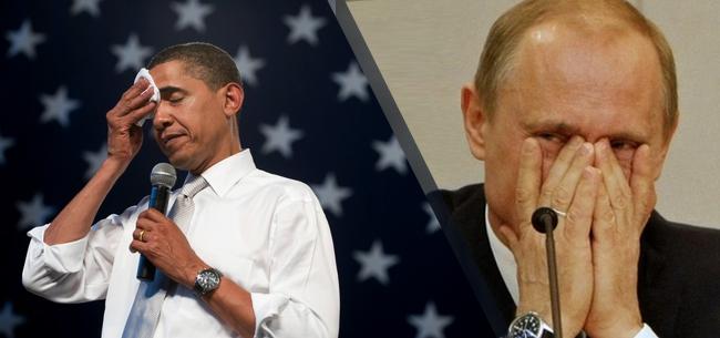 Путин смеется над обамой